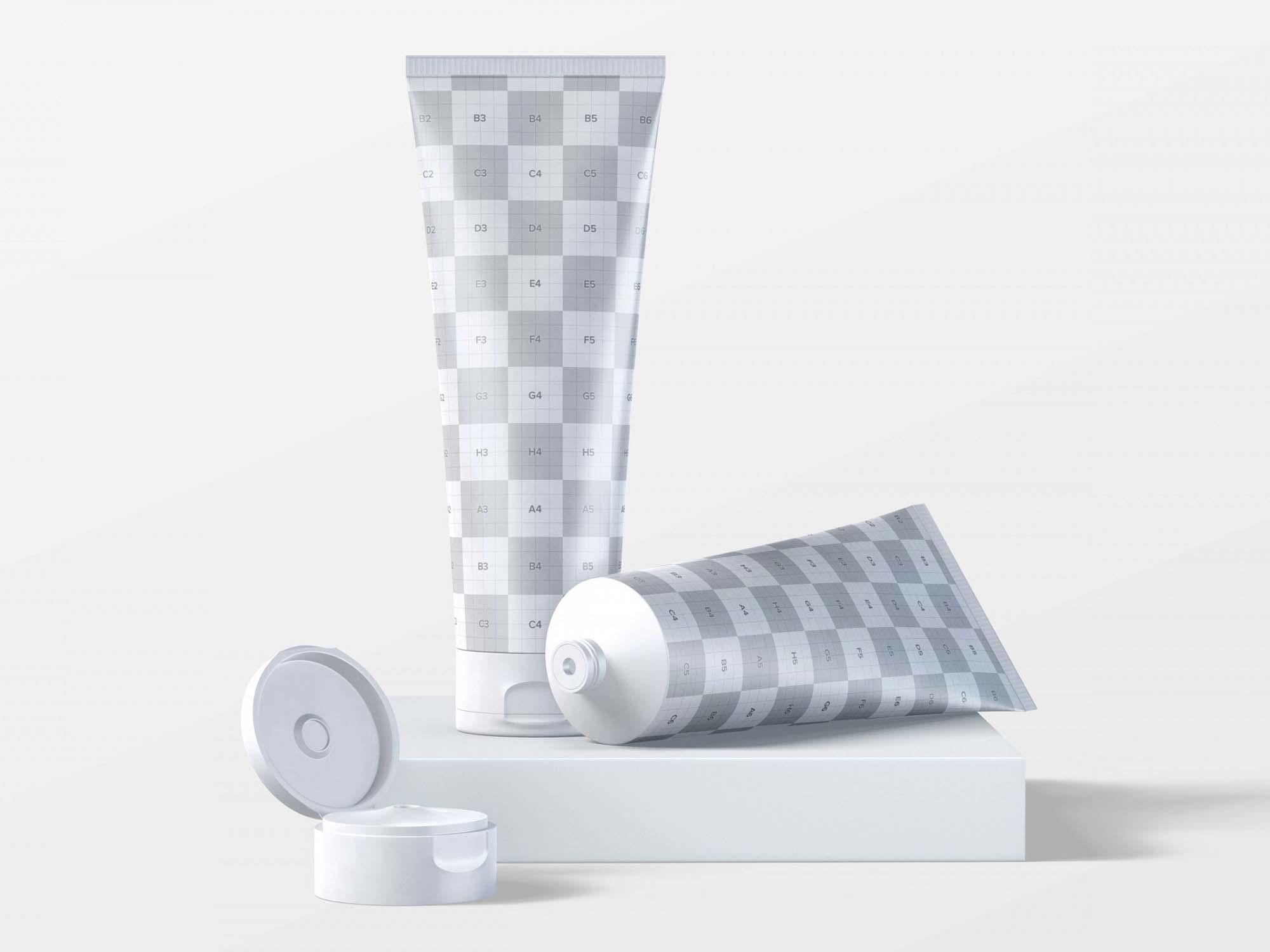 250ml Cosmetic Tubes Mockup 2
