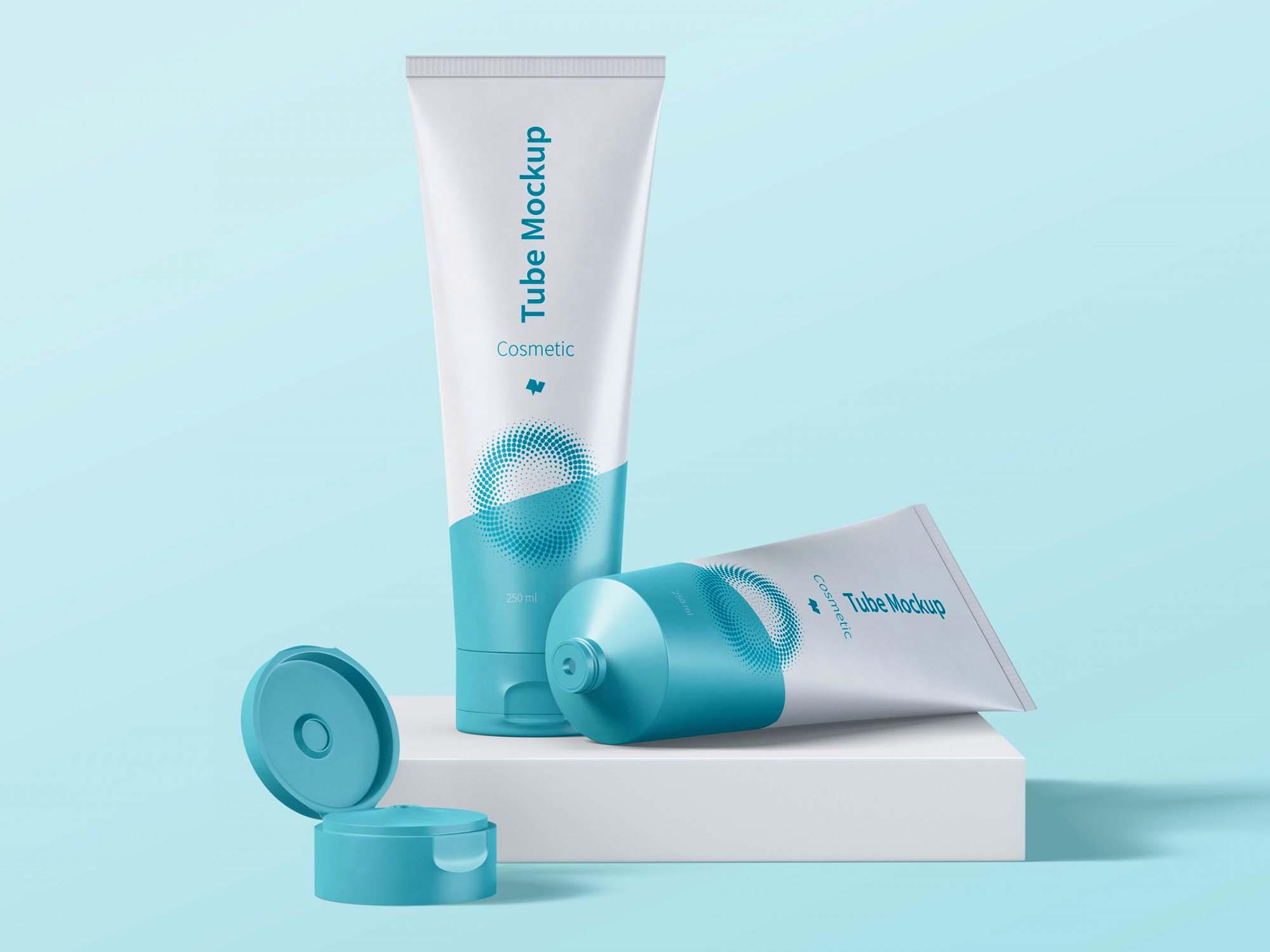 250ml Cosmetic Tubes Mockup 3