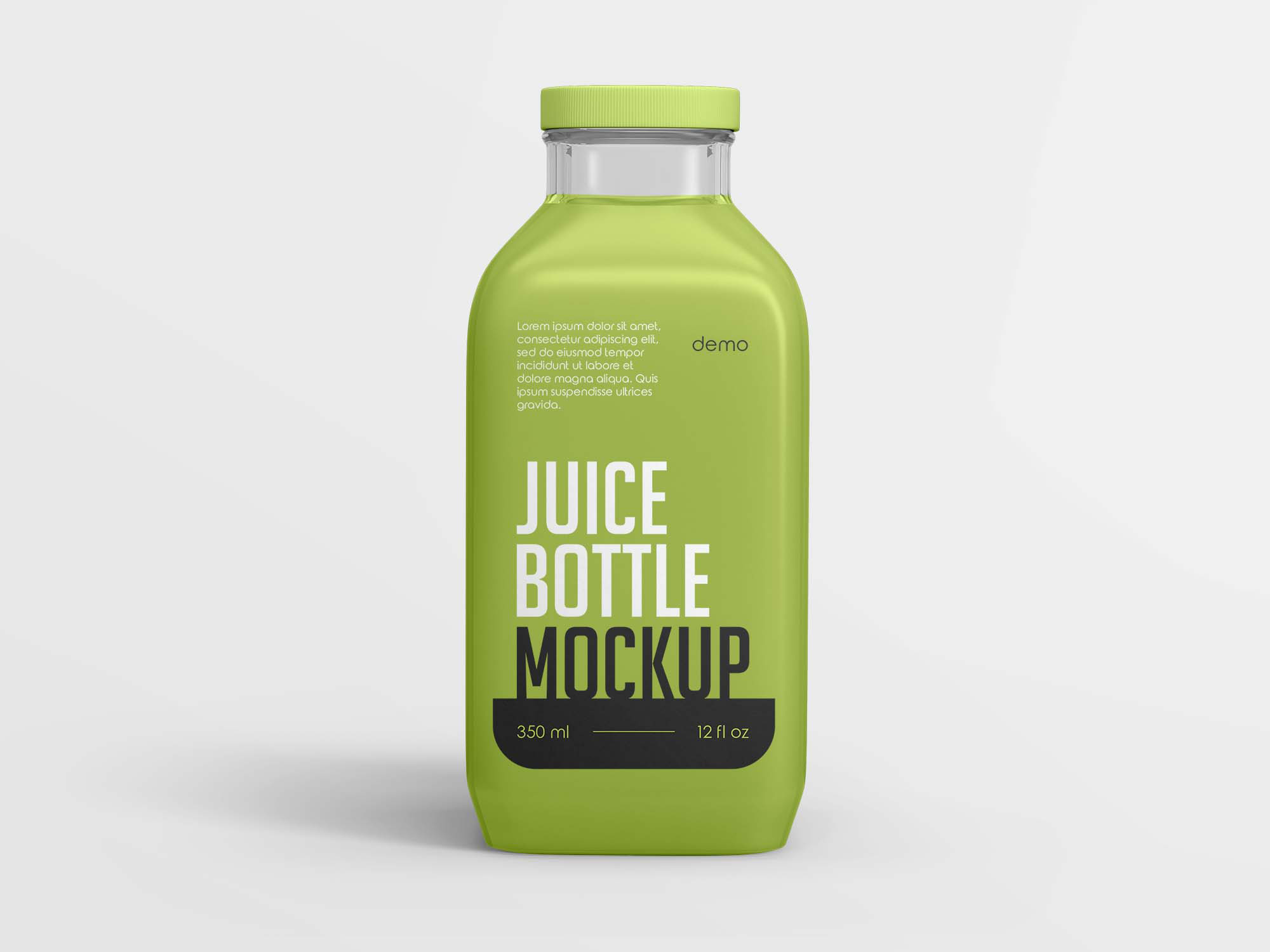 350ml Juice Bottle Mockup
