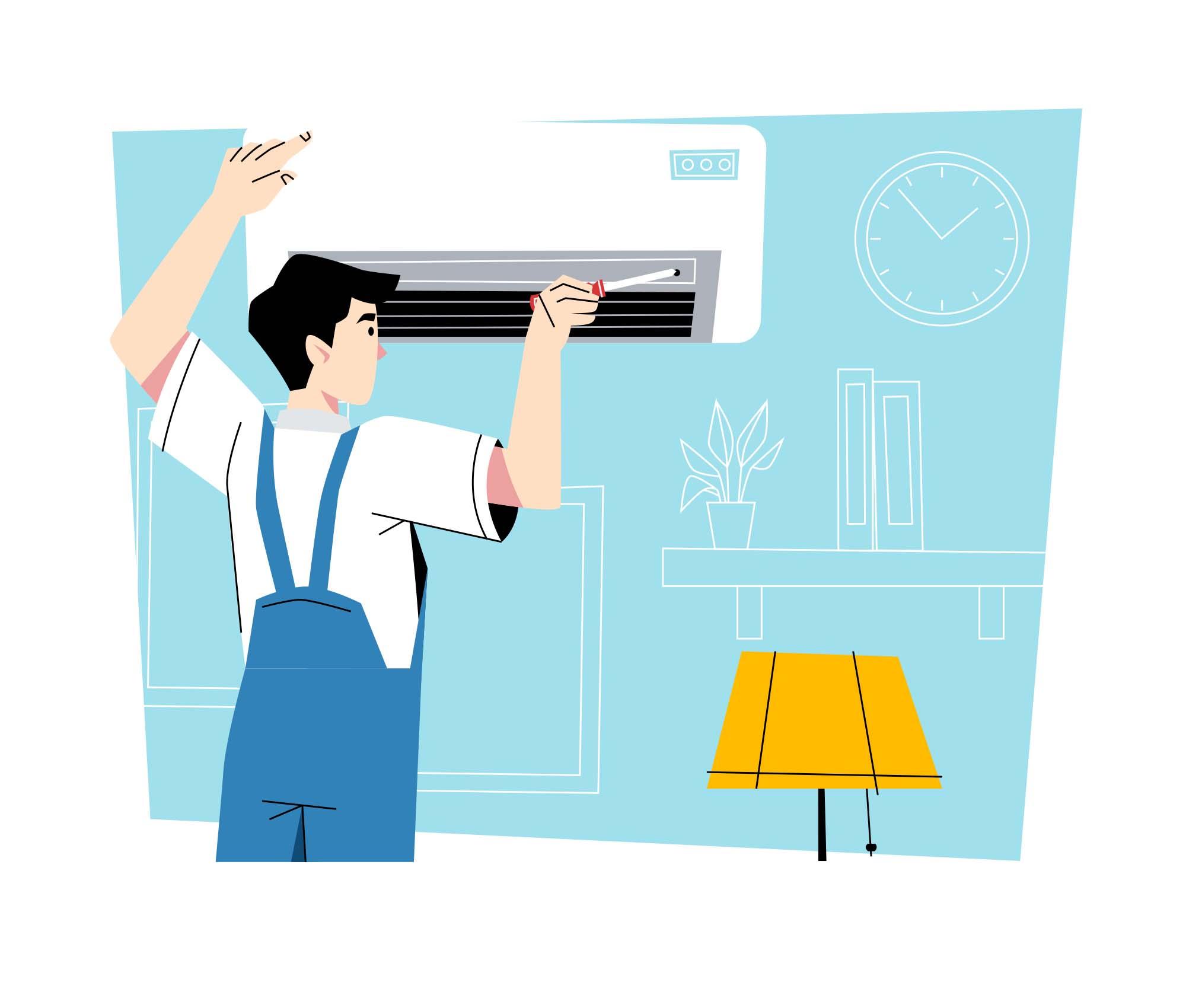 AC Technician Illustration