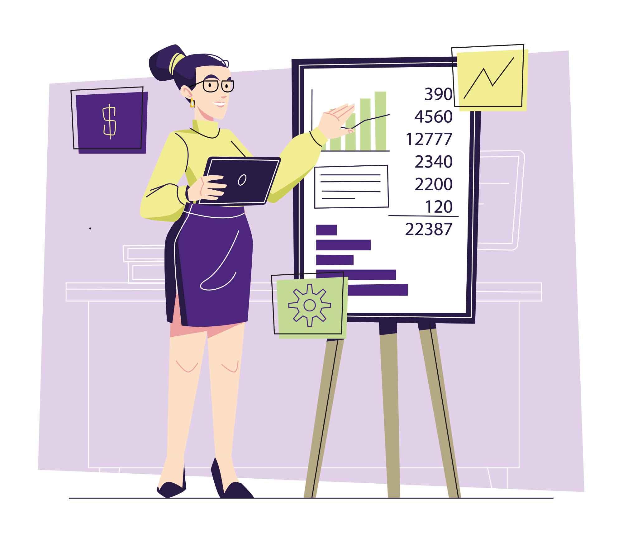 Accountant Vector Illustration
