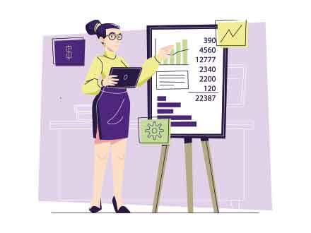 Accountant Vector Illustration