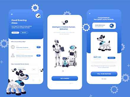 Artificial Intelligence Remote App Interface Design