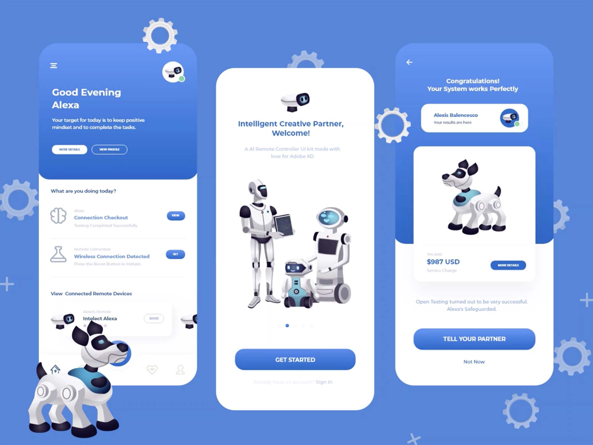 Artificial Intelligence Remote App Interface Design 1