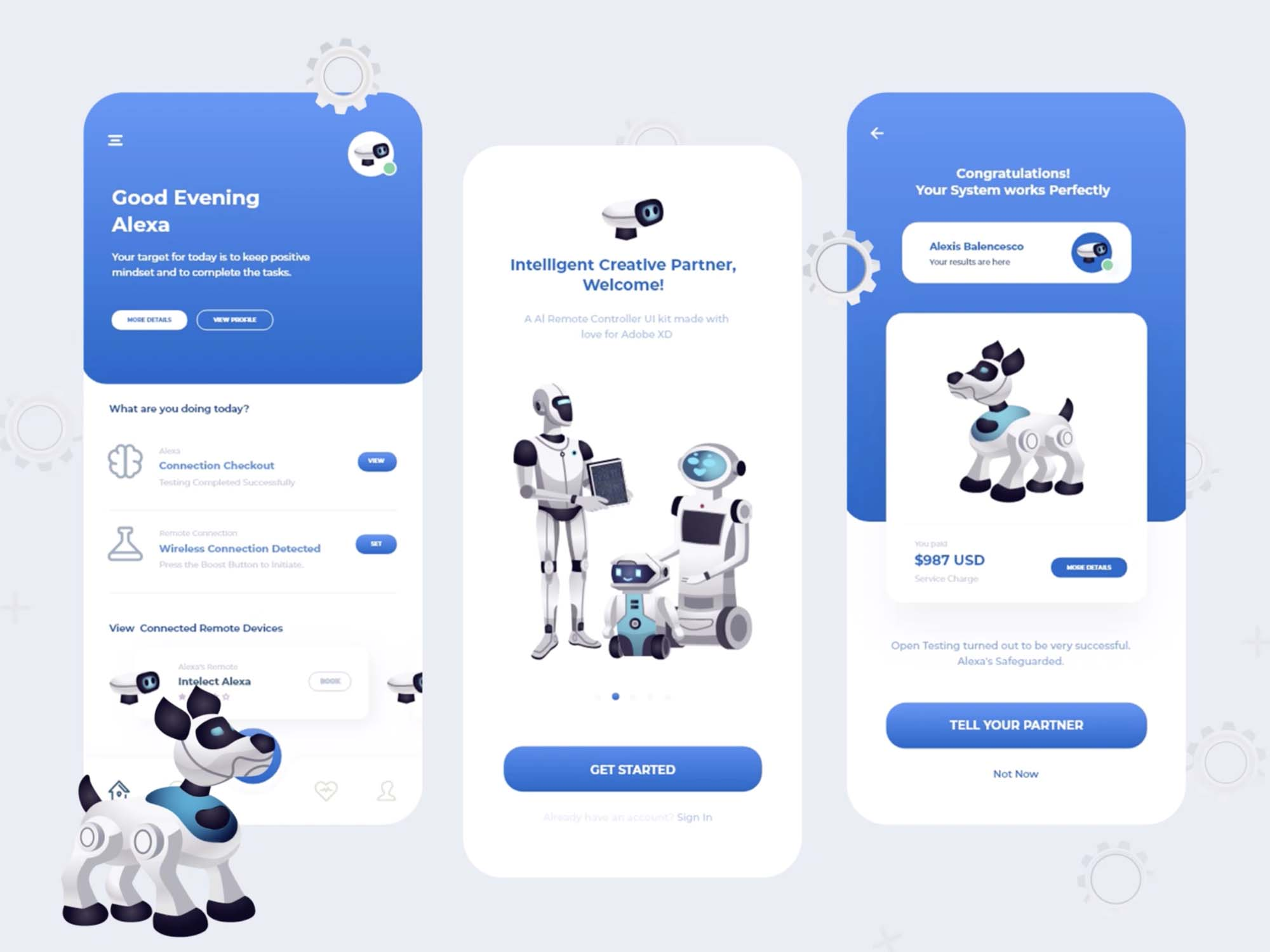 Artificial Intelligence Remote App Interface Design 2
