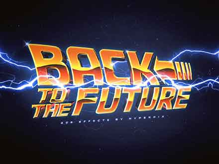 Back to the Future Text Effect
