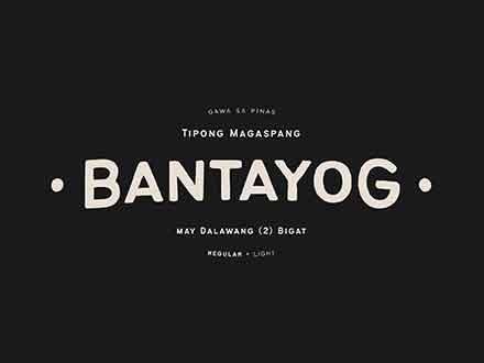 Bantayog Typeface