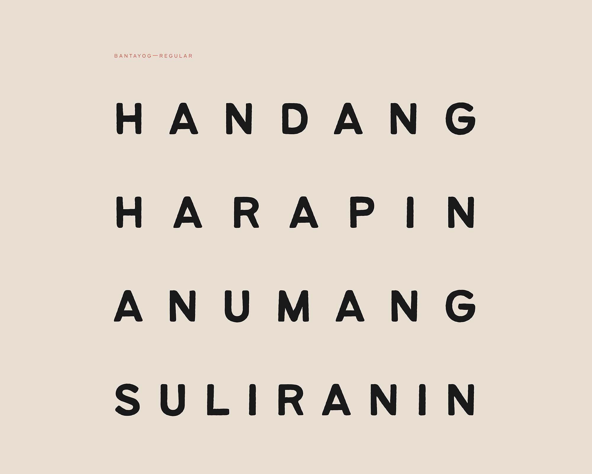 Bantayog Typeface 8