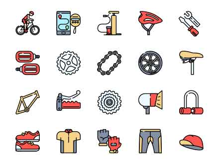 Bicycle Vector Icons