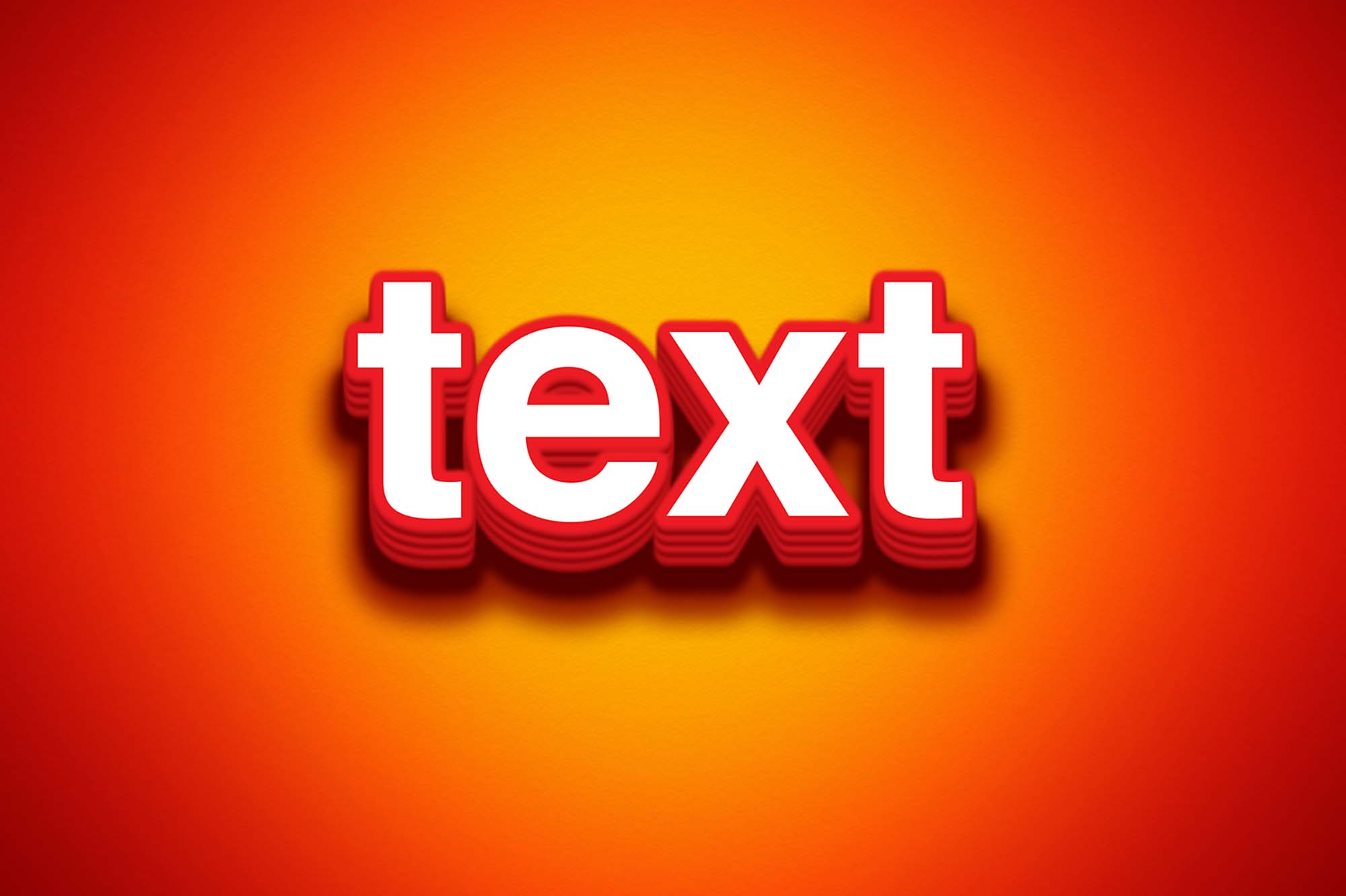 Bright Photoshop Text Effect 2