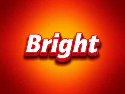 Bright Photoshop Text Effect