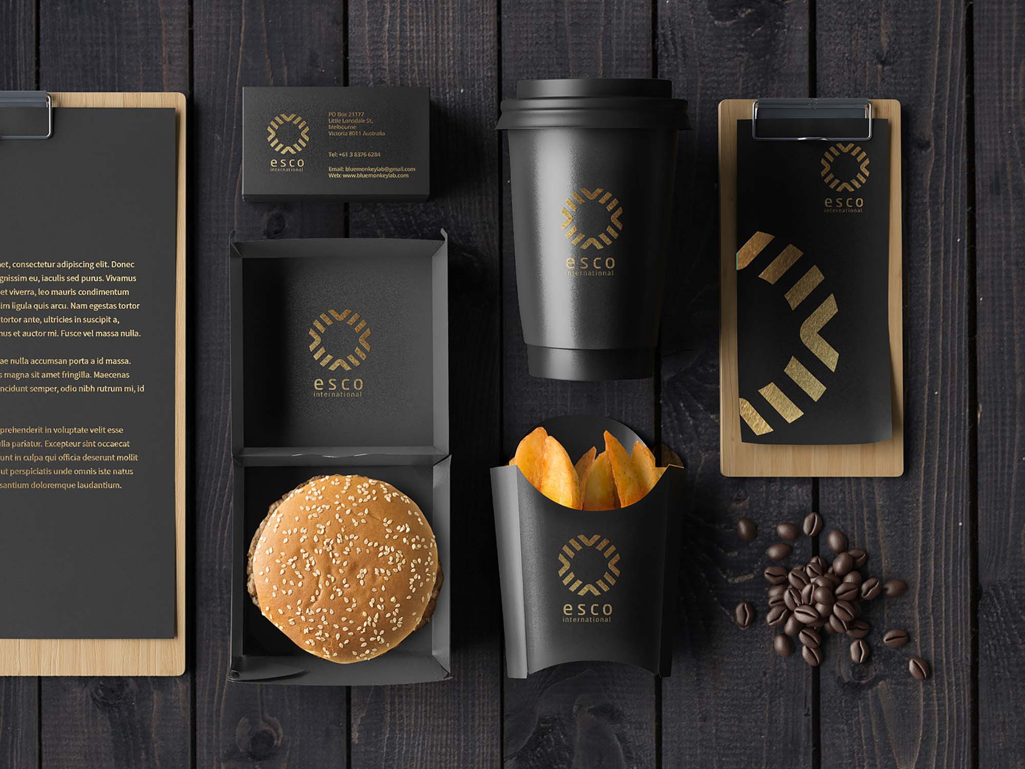 Cafe Stationery Mockup 2