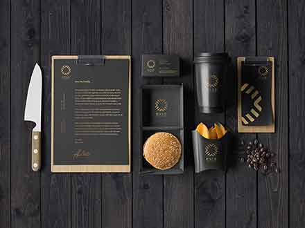 Cafe Stationery Mockup