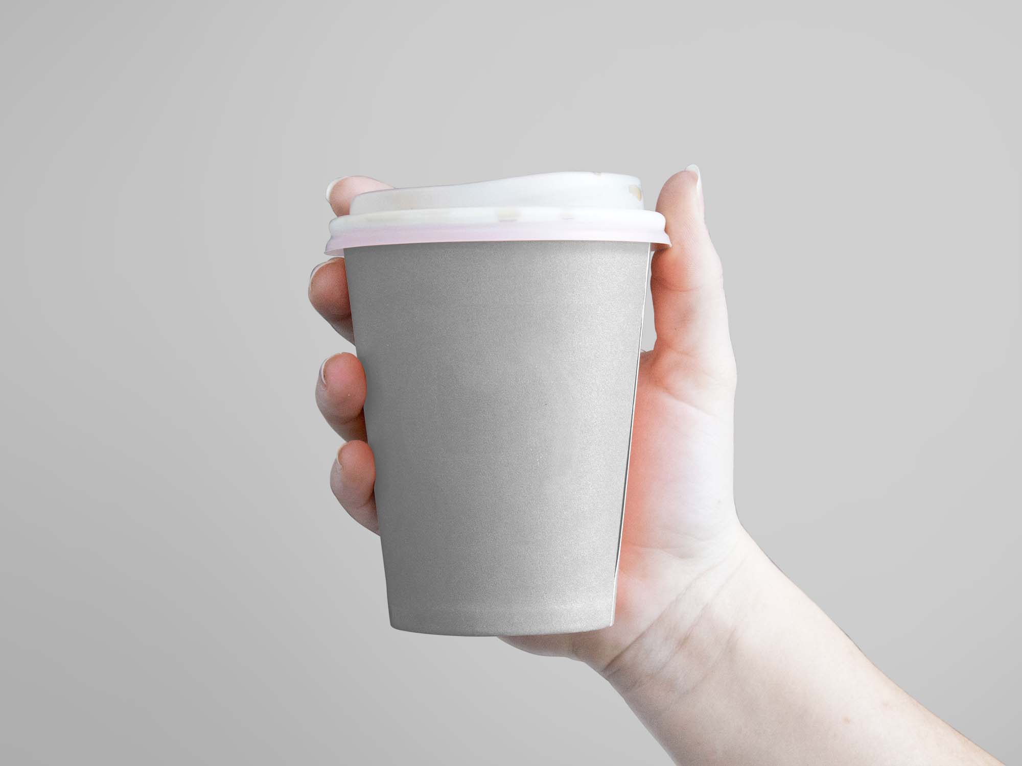 Coffee Cup Hand Mockup 2