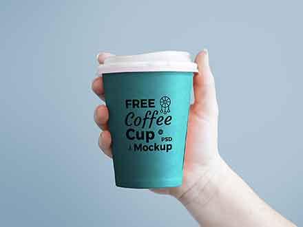 Coffee Cup Hand Mockup