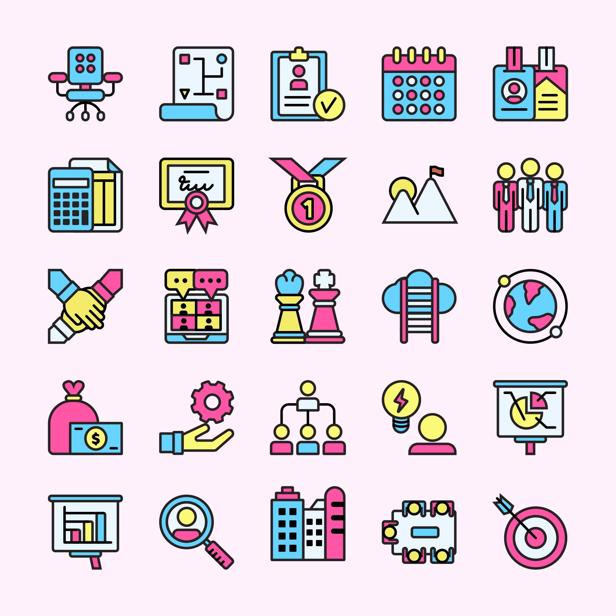 Colored Corporate Vector Icons
