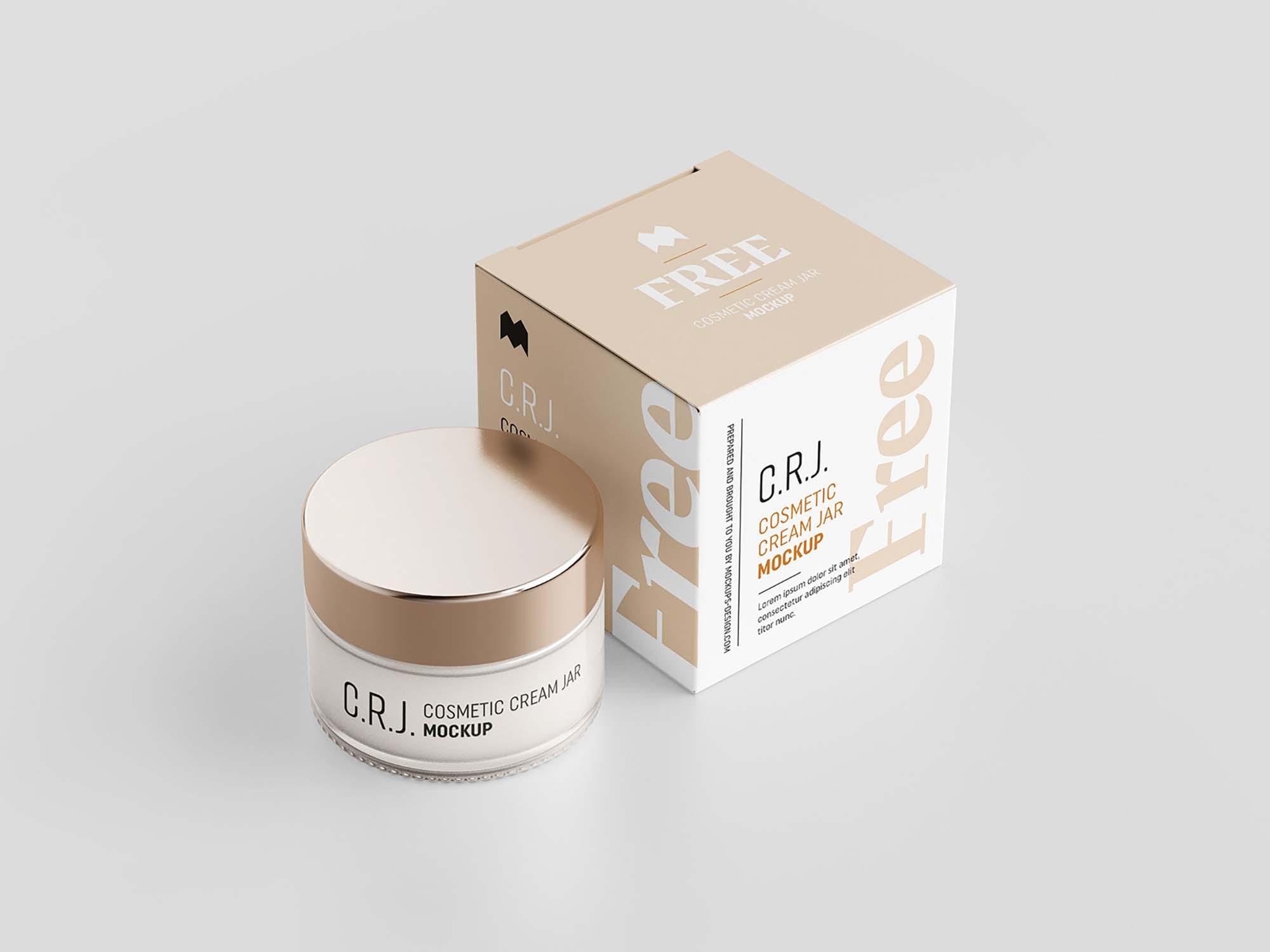 Cosmetic Box with Jar Mockup 1