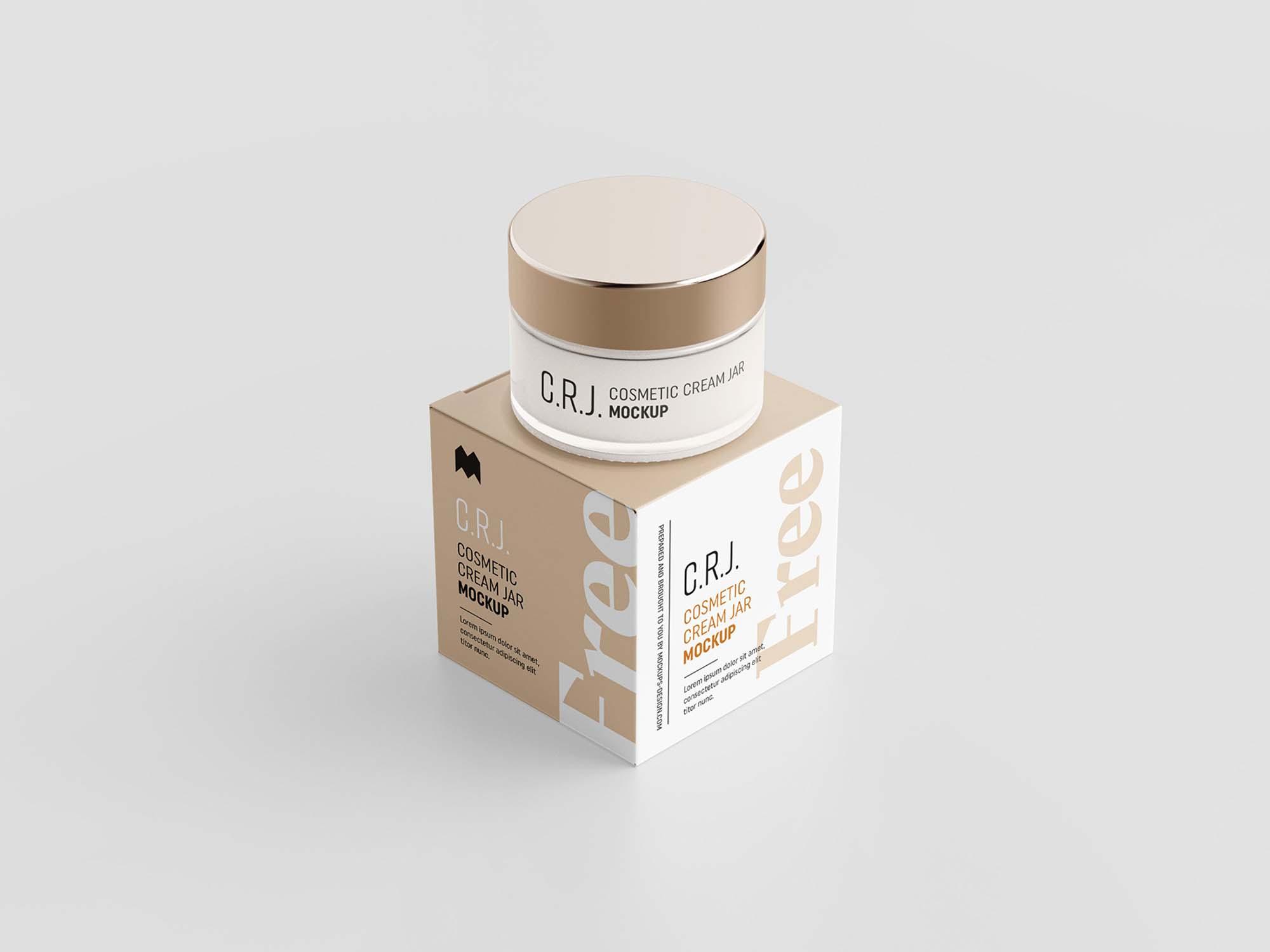 Cosmetic Box with Jar Mockup 2