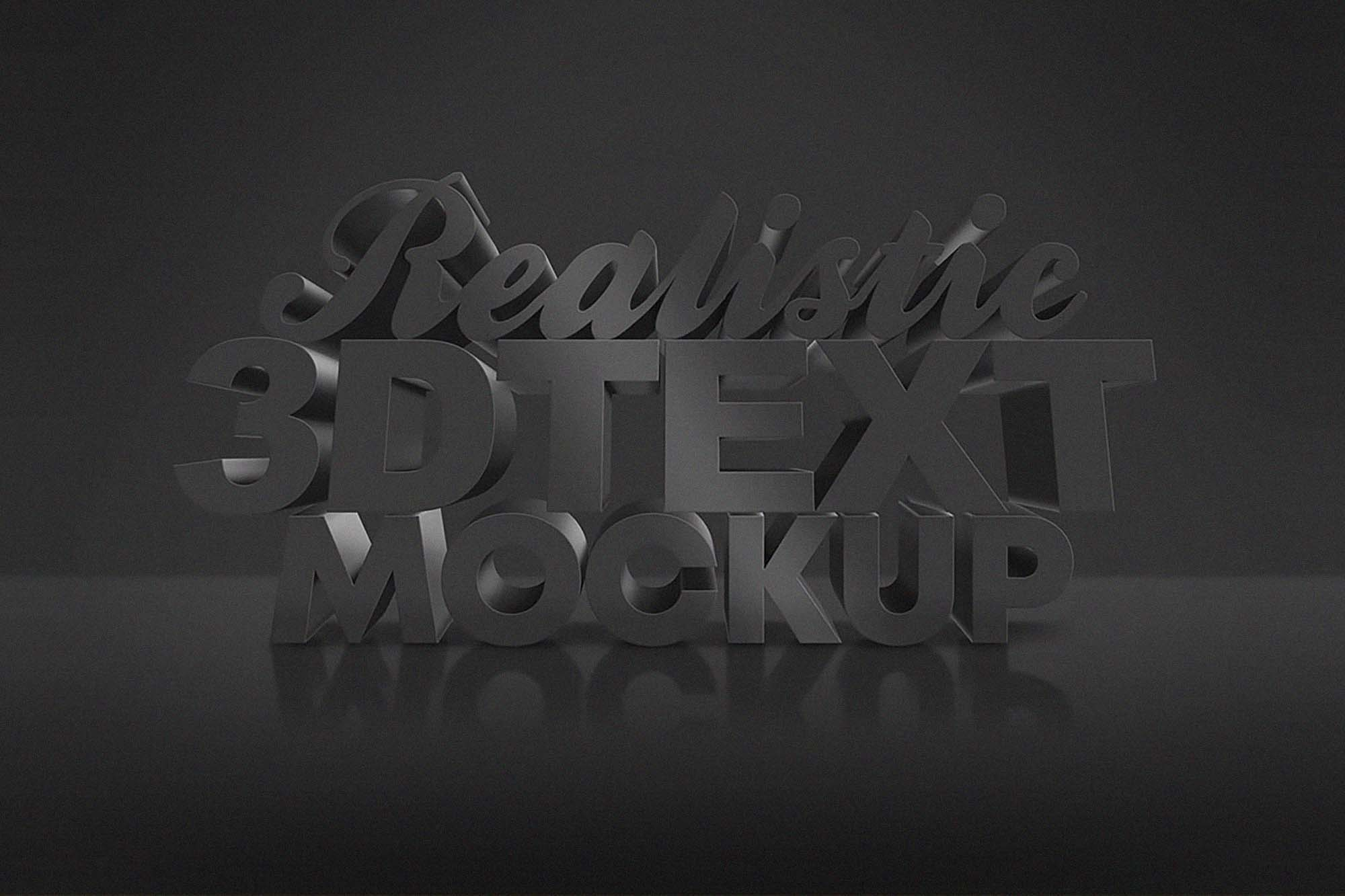 Dark 3D Text Effect