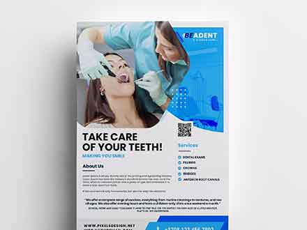 Dental Service Flyer Template