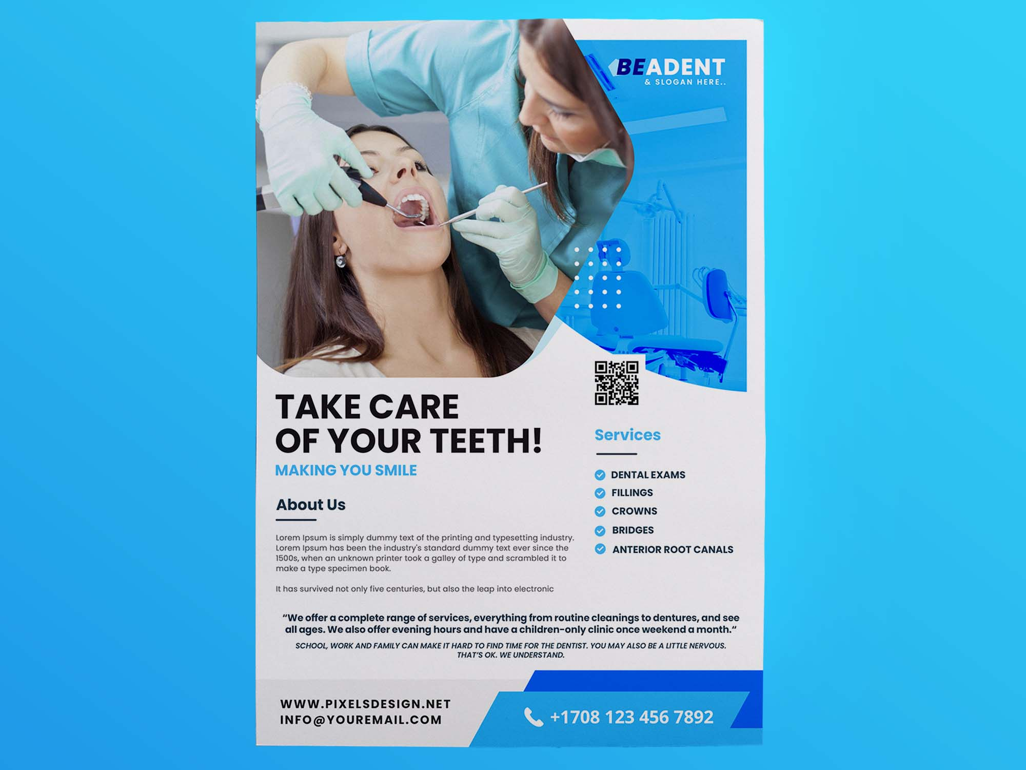 Dental Service Flyer Template 2