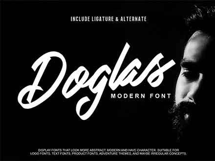 Doglas Modern Script Font
