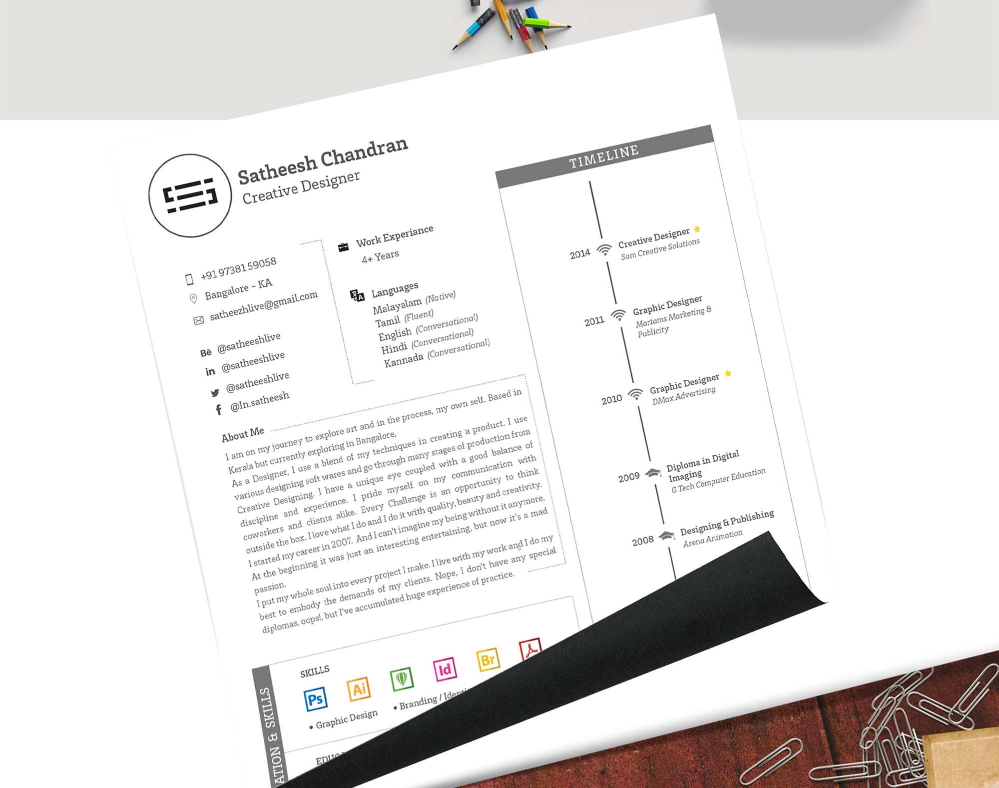 Editable Resume Template 2