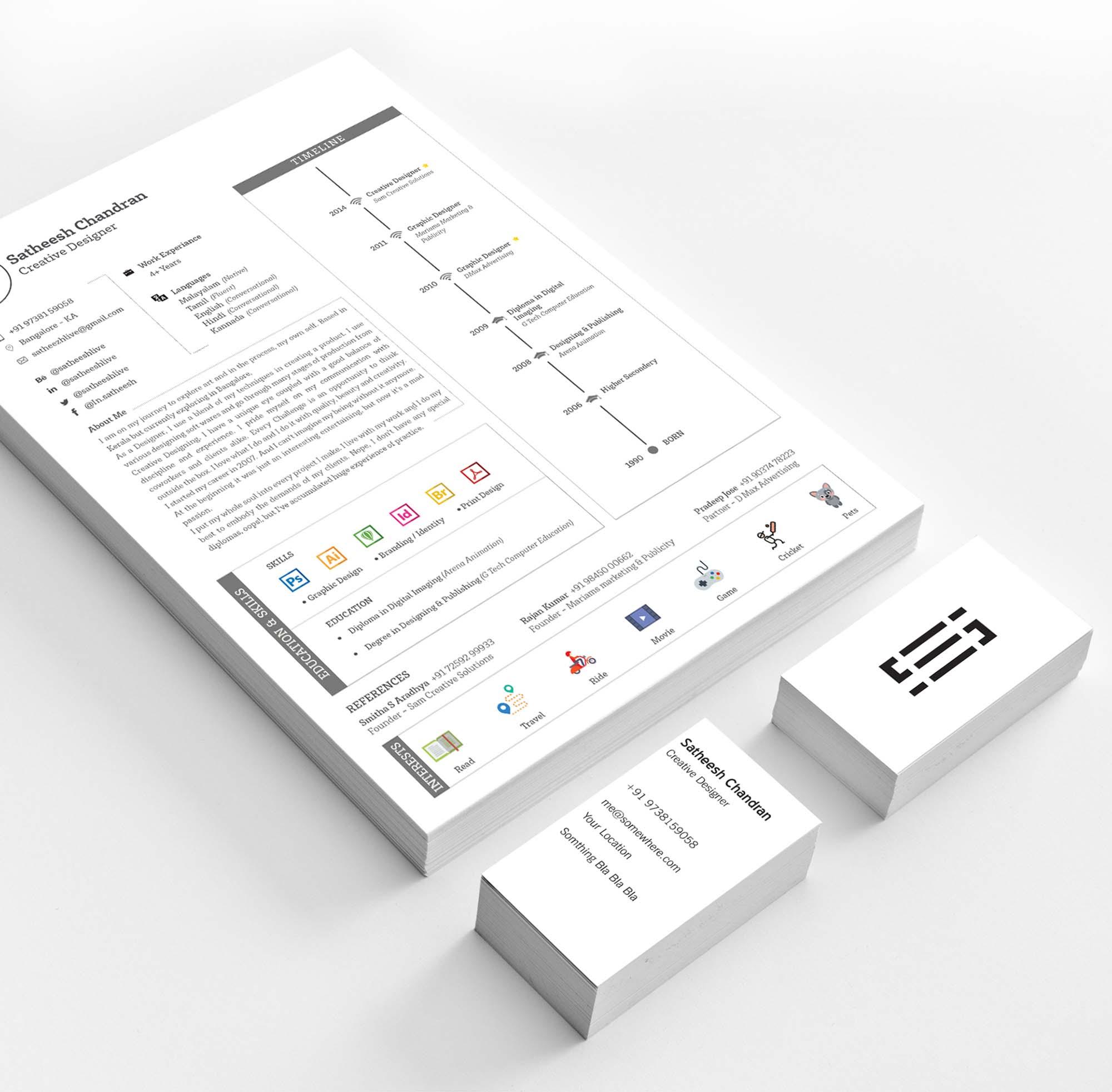 Editable Resume Template 5