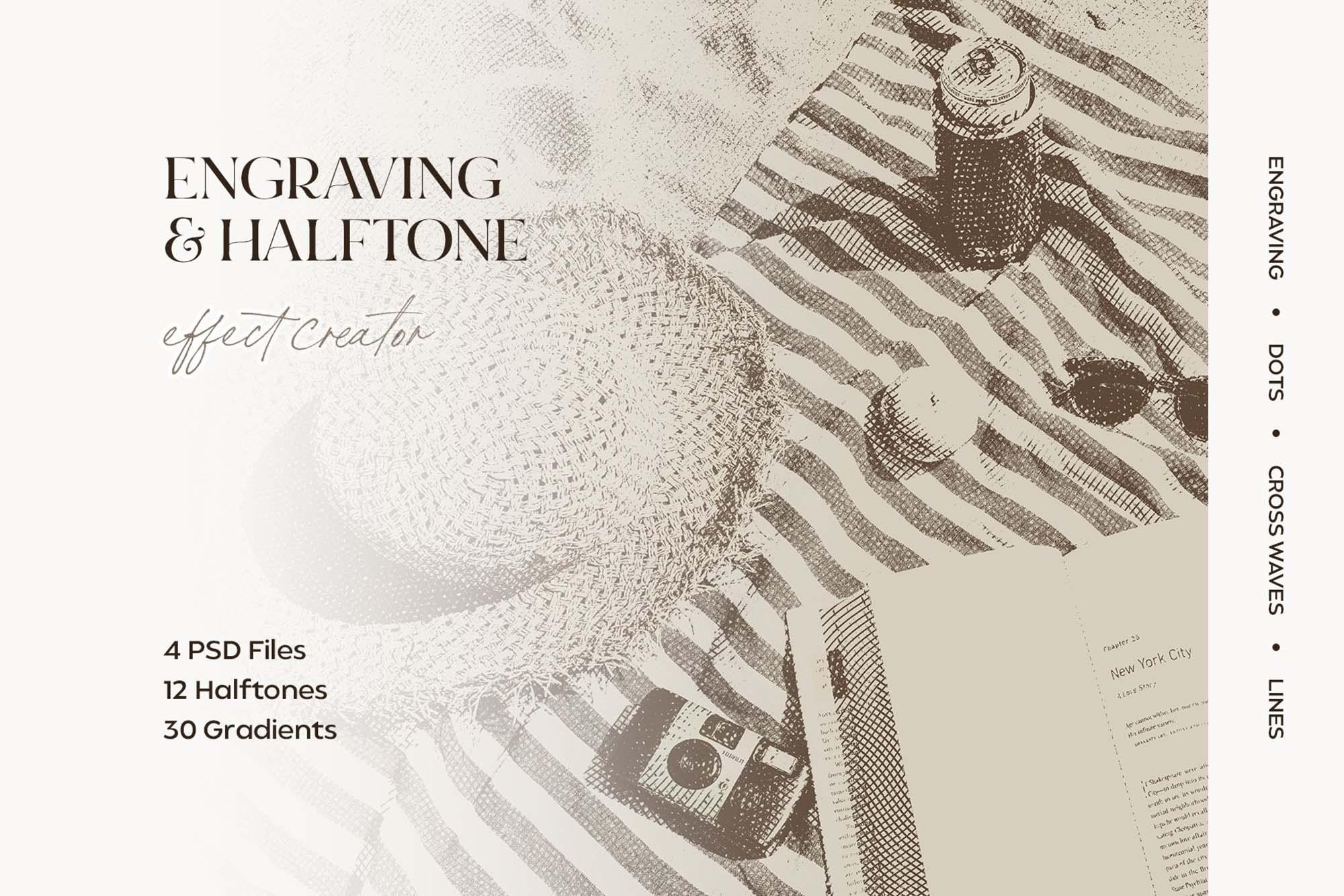 Engraving & Halftone Effect Creator