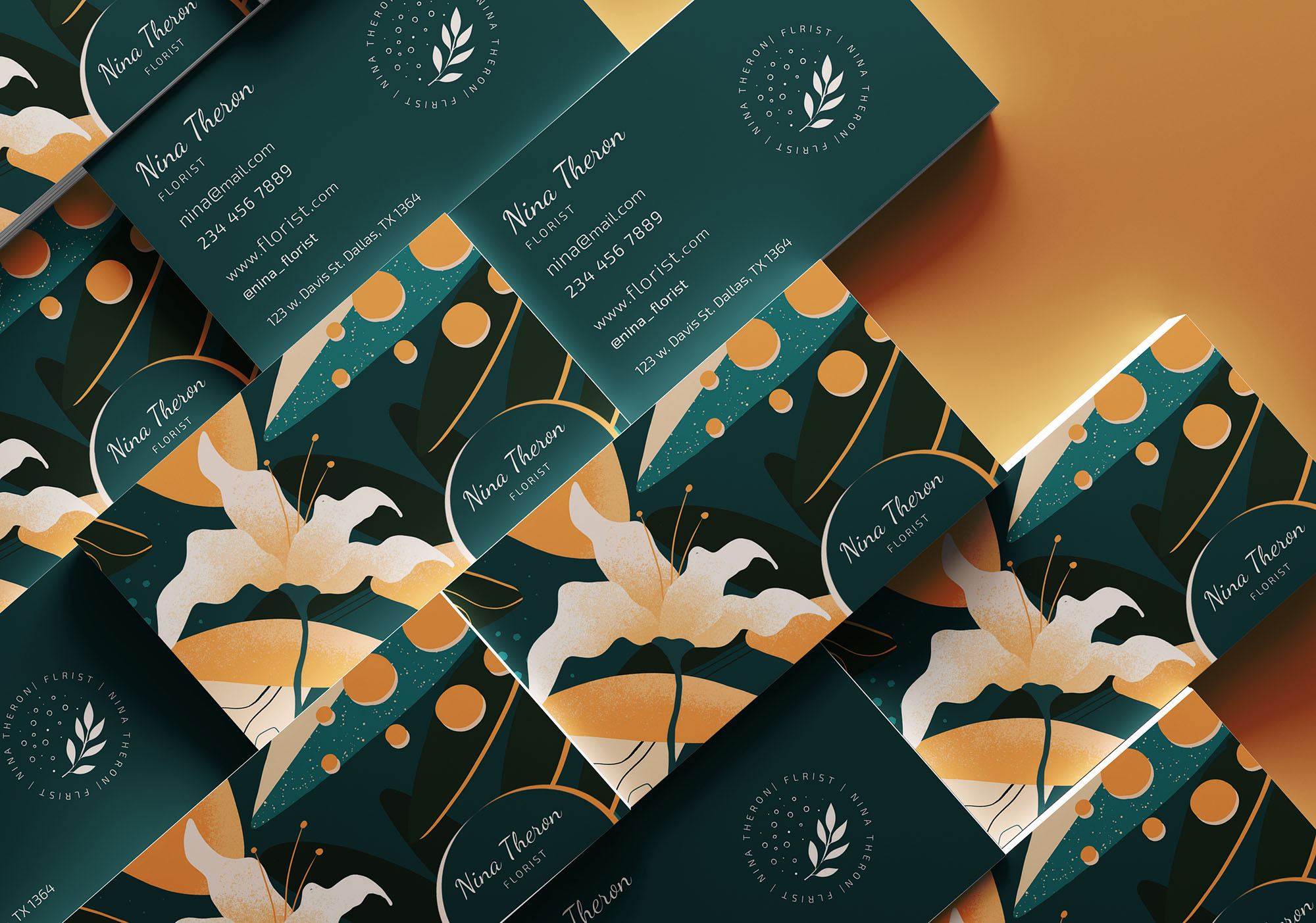 Florist Business Card Template 2