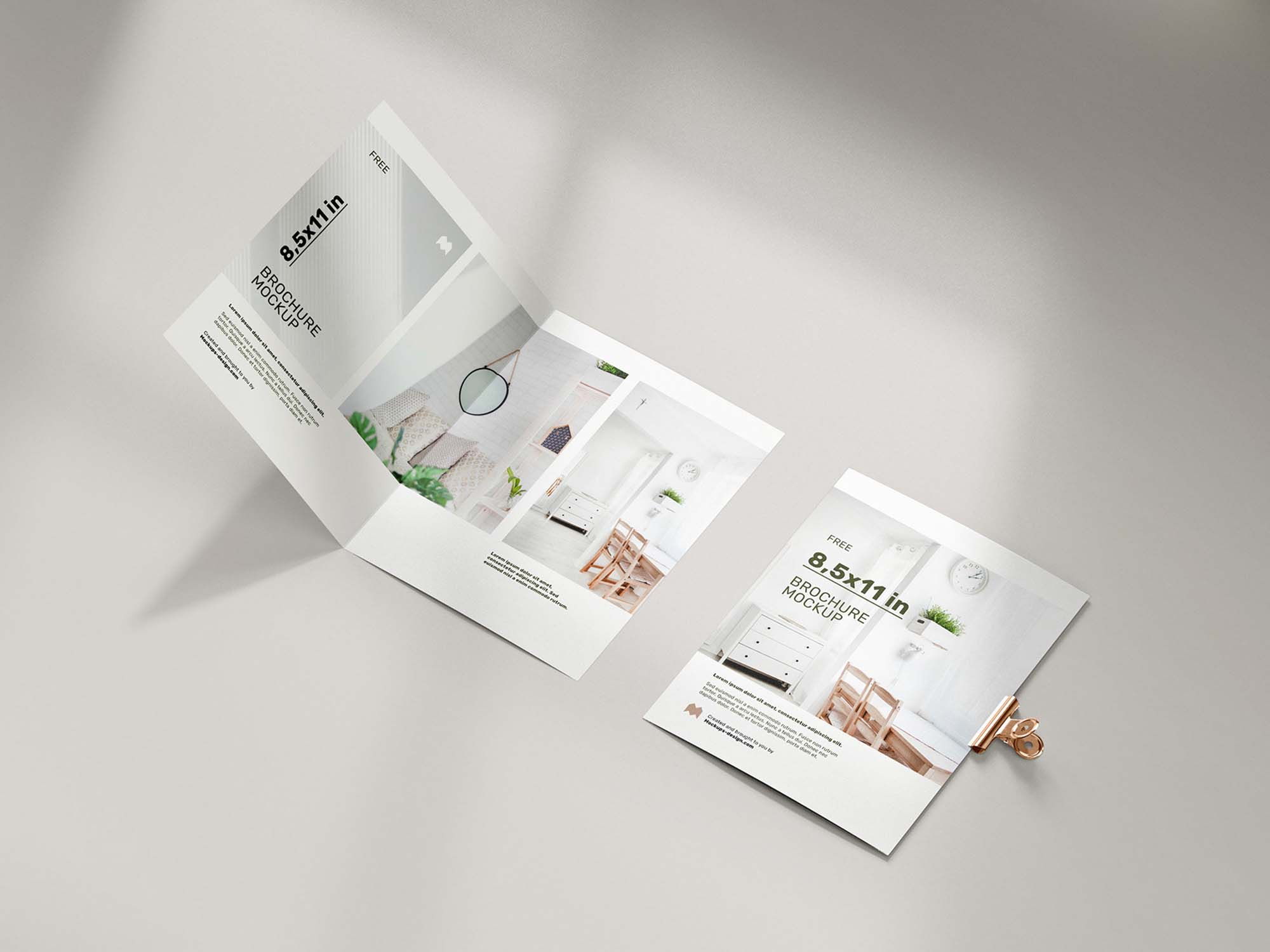 Folded 8.5 x 11 in Brochure Mockup 1