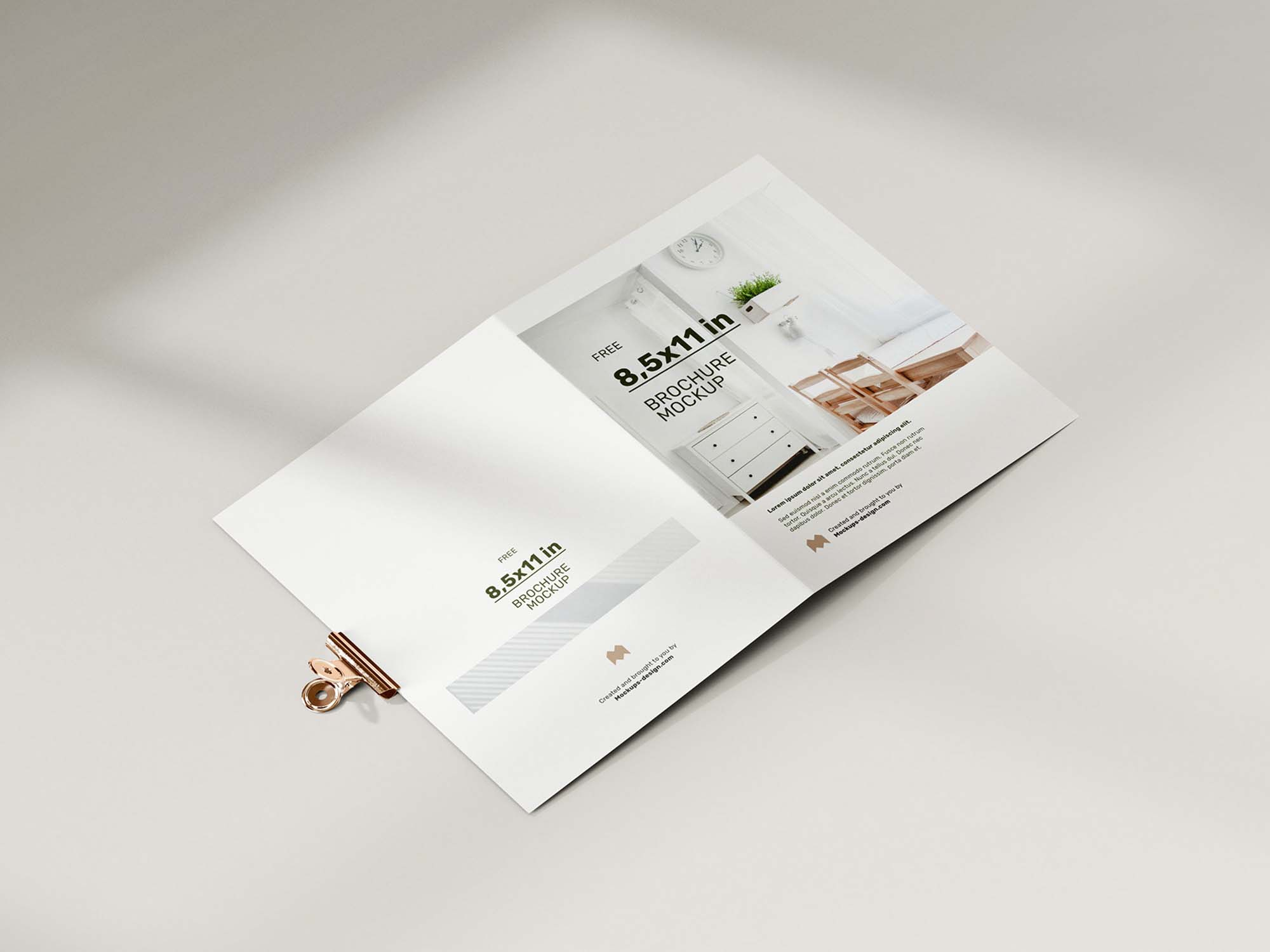 Folded 8.5 x 11 in Brochure Mockup 2