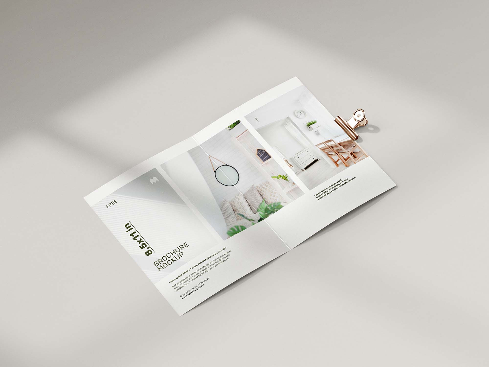 Folded 8.5 x 11 in Brochure Mockup 3