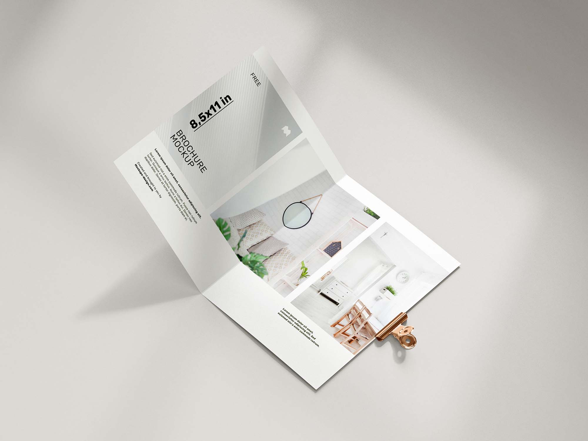 Folded 8.5 x 11 in Brochure Mockup 4