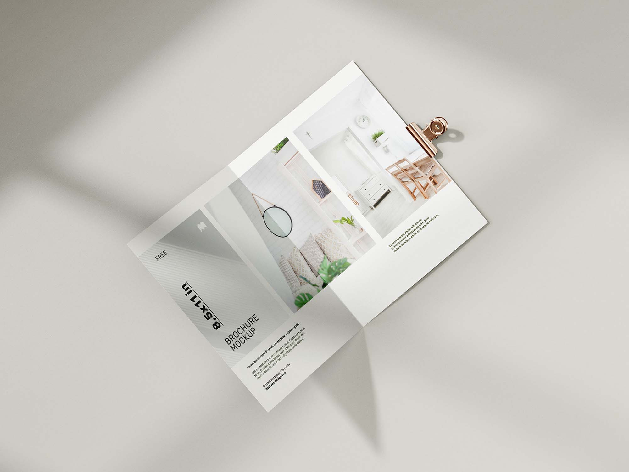 Folded 8.5 x 11 in Brochure Mockup