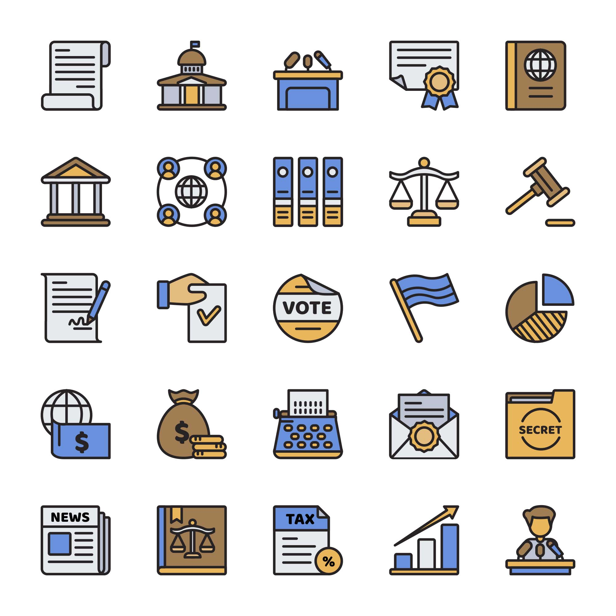 Government Vector Icons