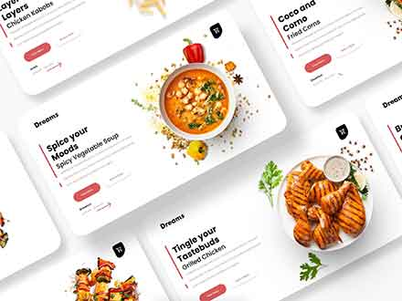 Grilled Dreams Food Store Web UI Template