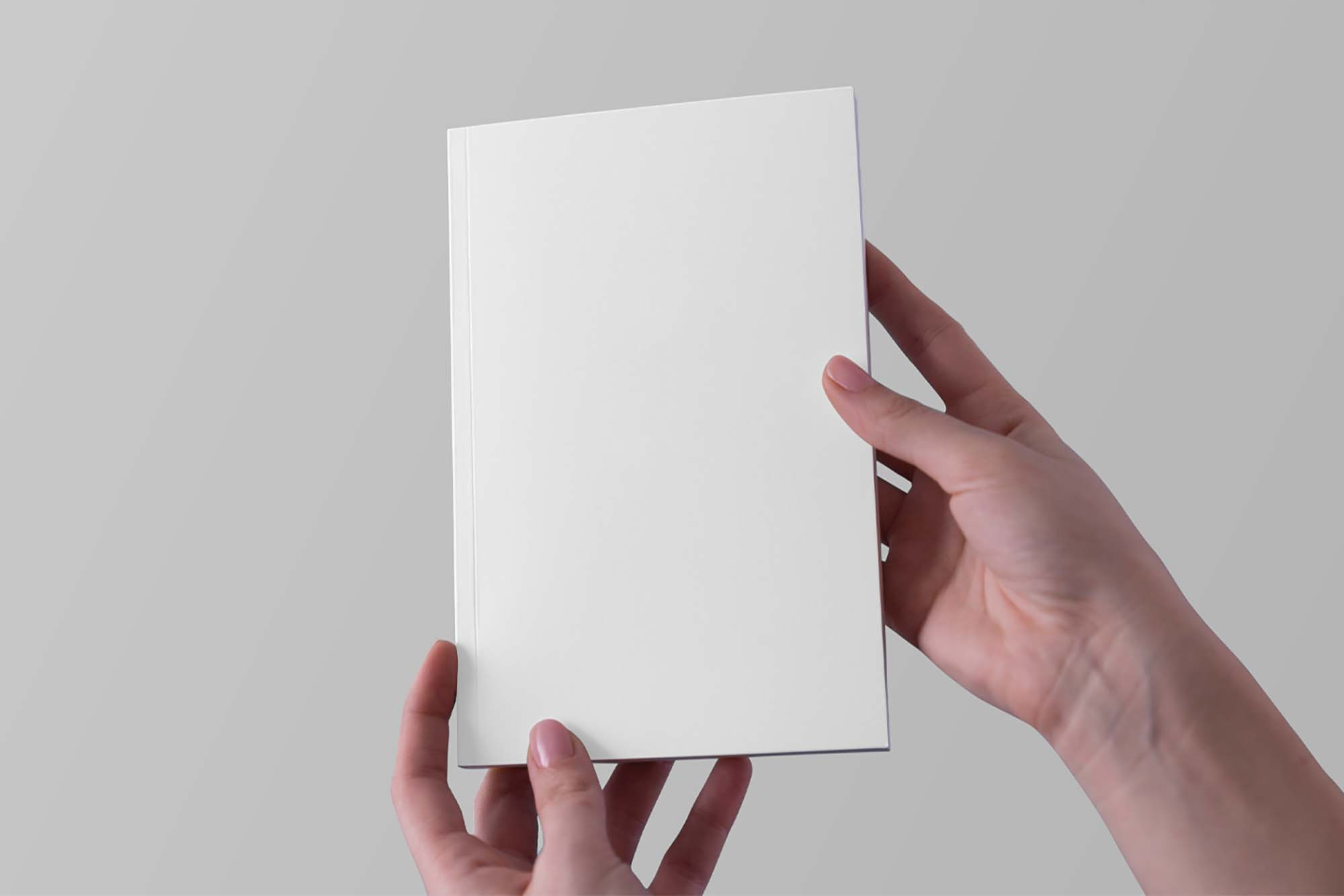 Hands Holding Notebook Mockup 2