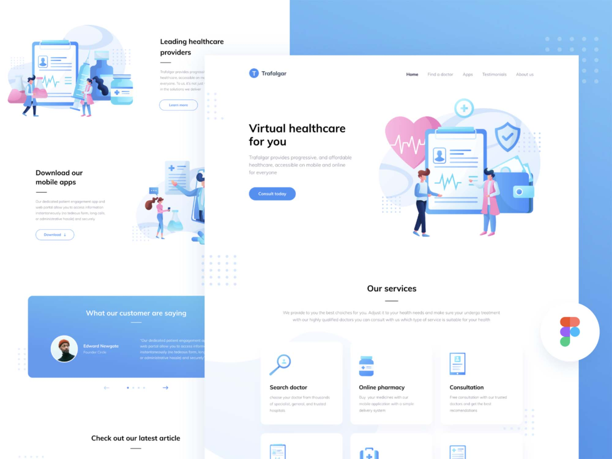 Healthcare Startup Landing Page