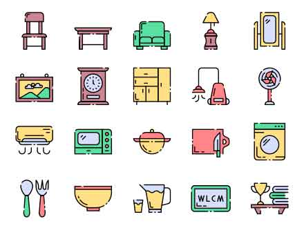 Homeware Vector Icons
