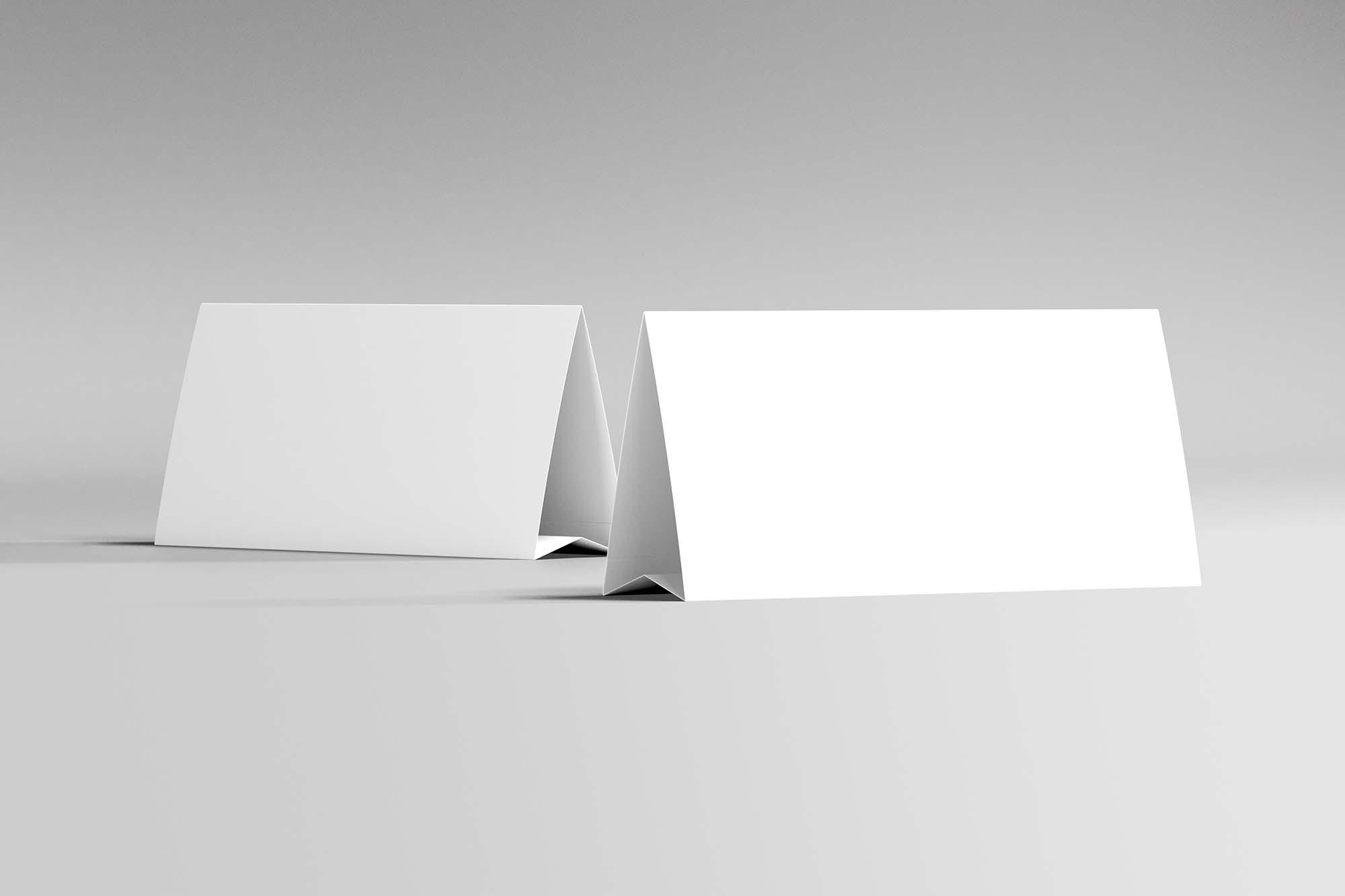 Horizontal Table Tent Mockup 2