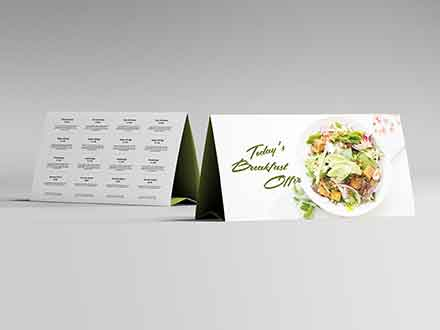 Horizontal Table Tent Mockup