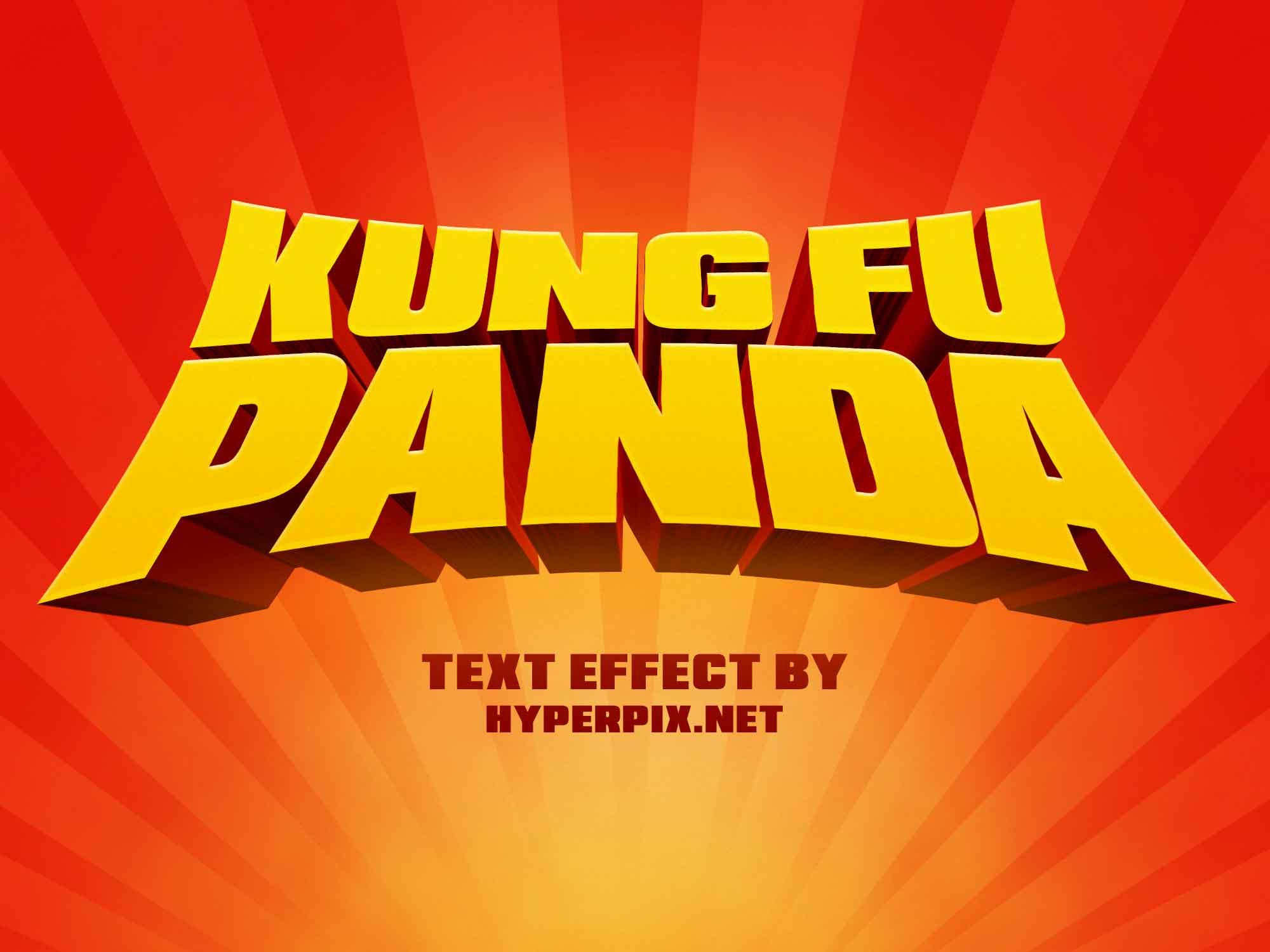 Kung Fu Panda Text Effect
