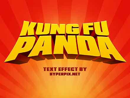 Kung Fu Panda Text Effect