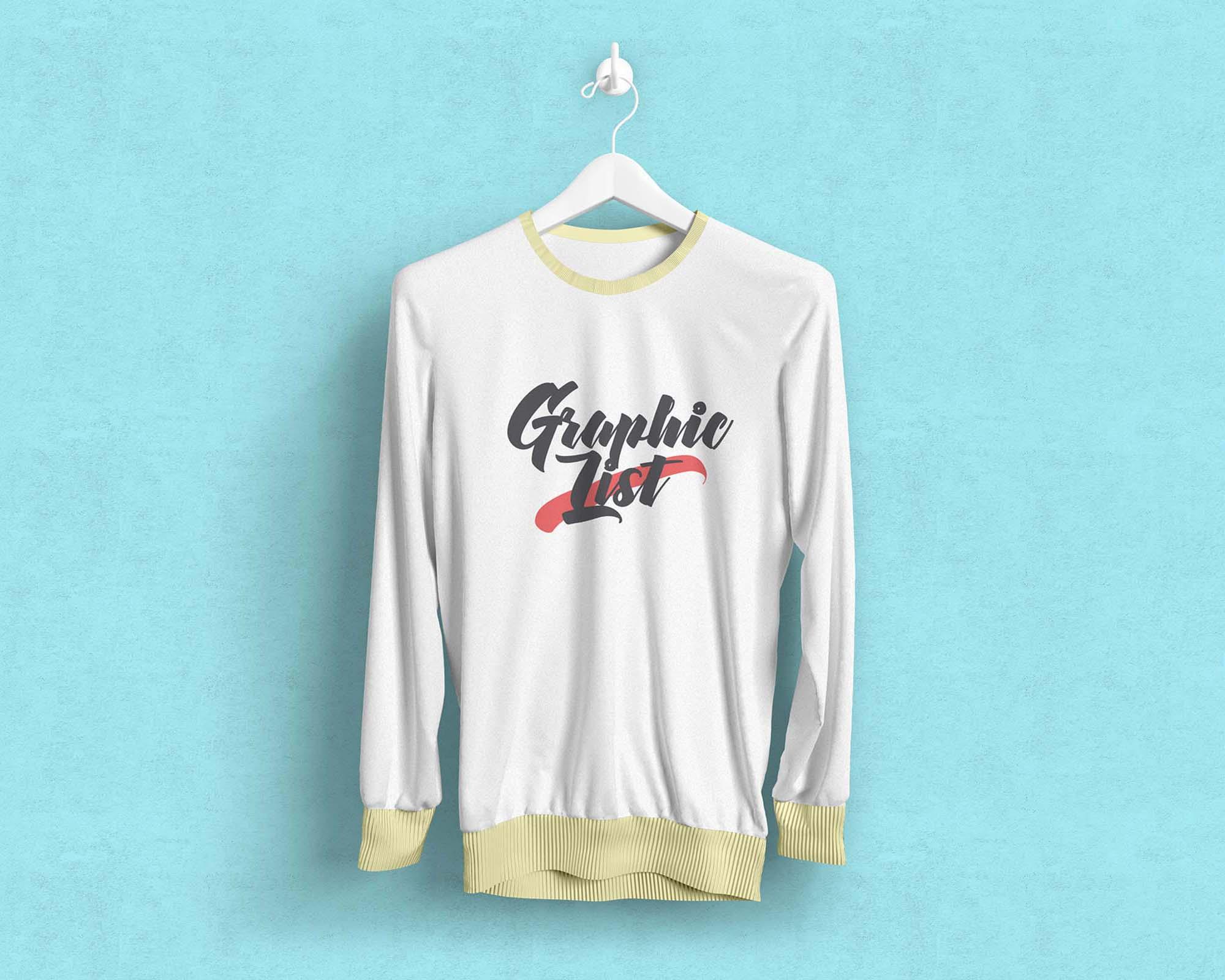 Long Sleeve T-Shirt Mockup 1