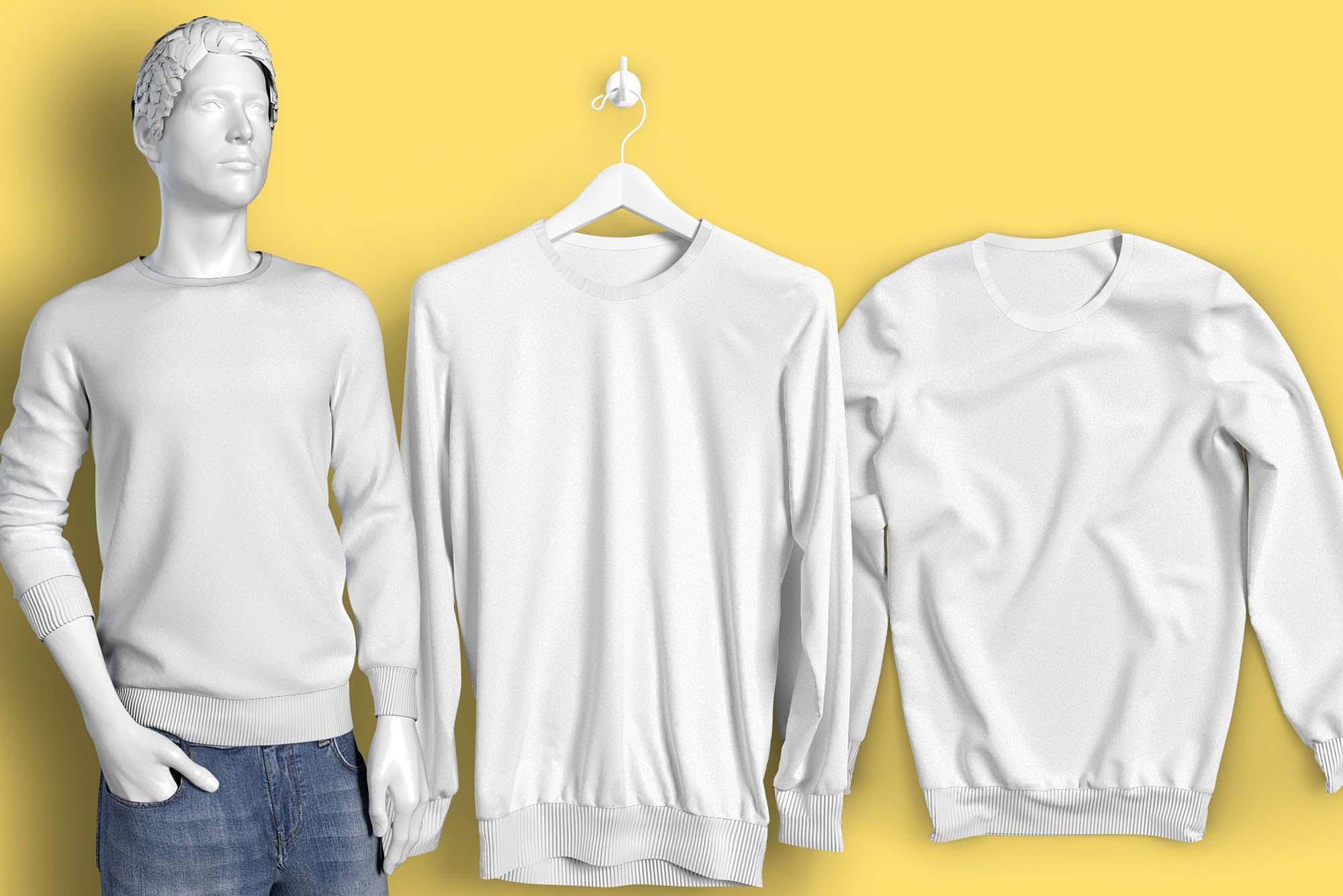 Long Sleeve T-Shirt Mockup 3