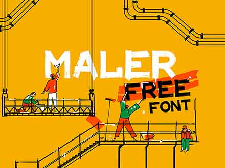 Maler Display Font