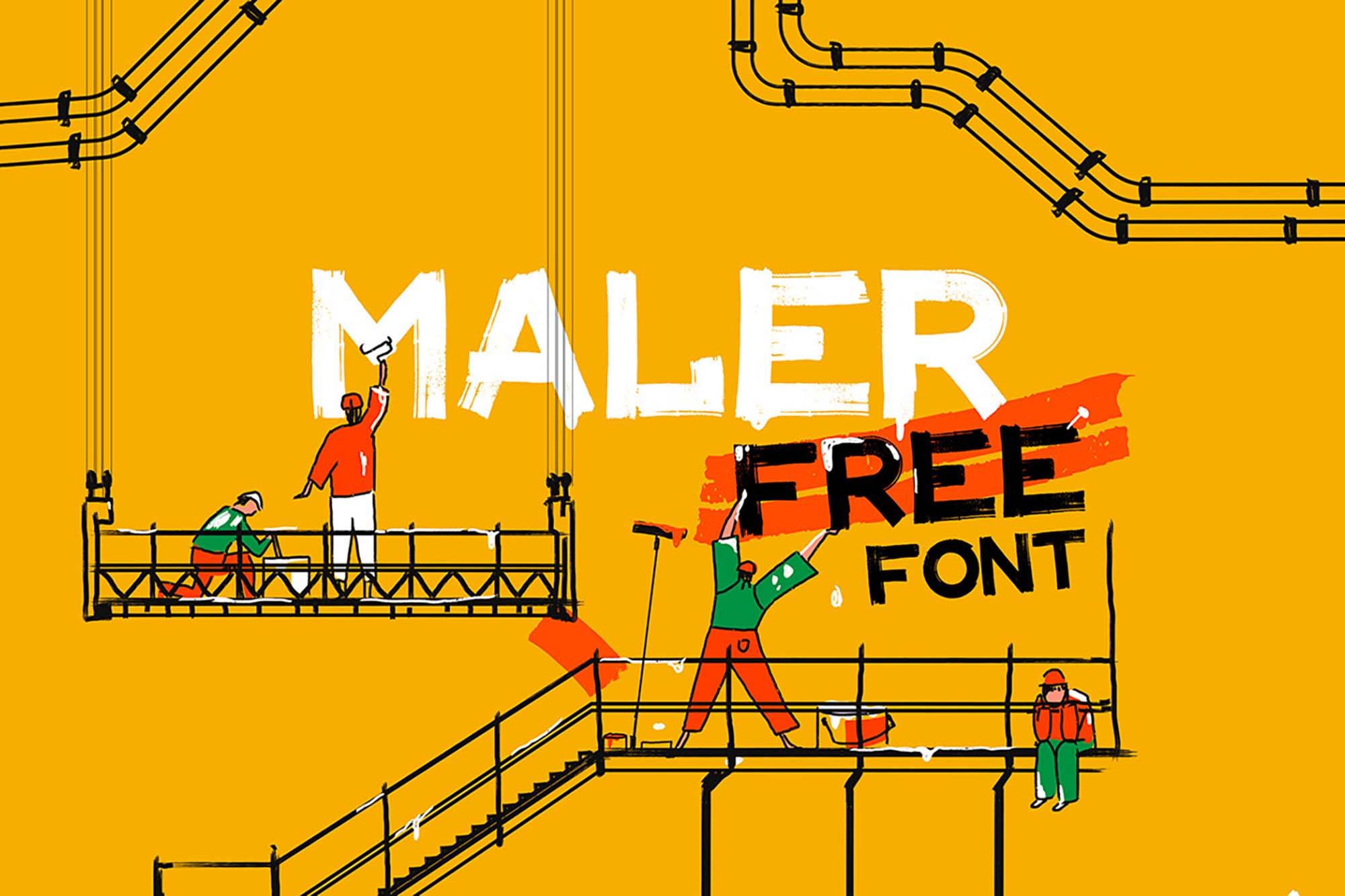 Maler Display Font