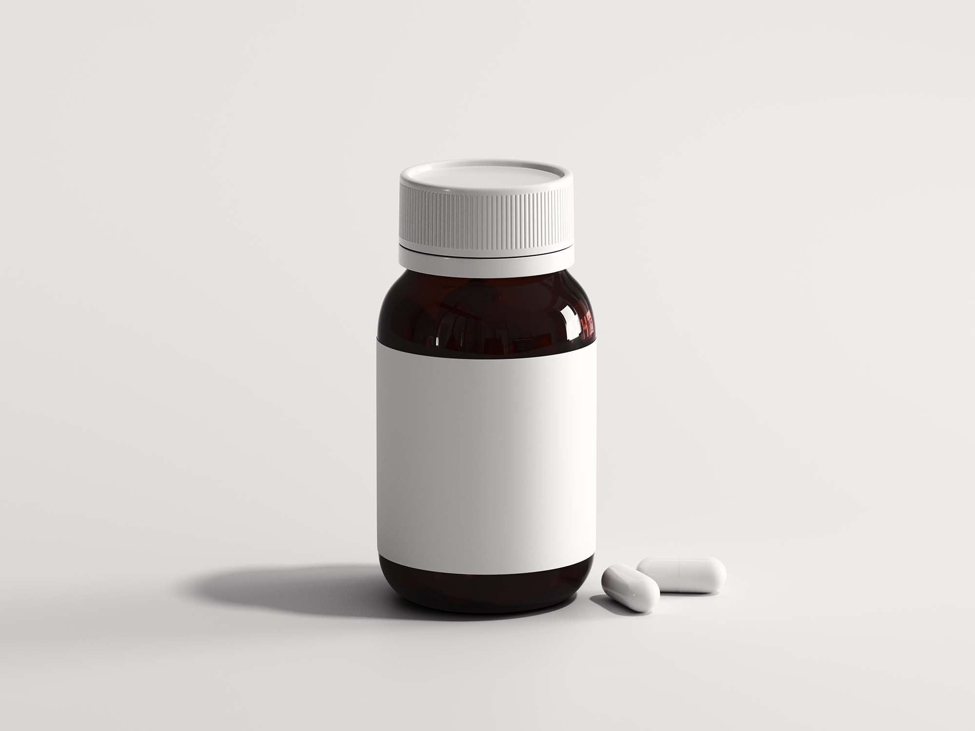 Mini Pills Bottle Mockup 2