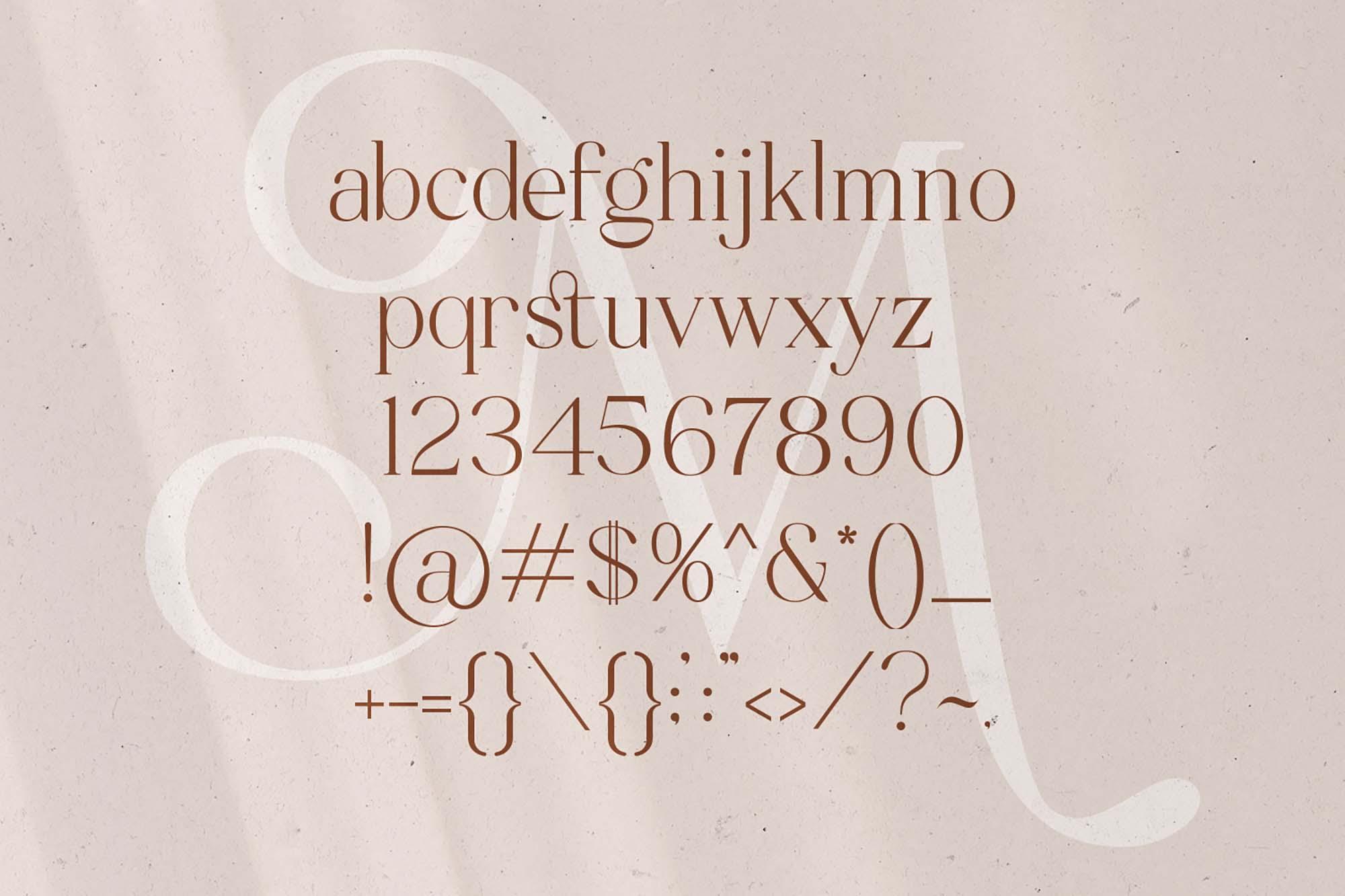 Mitchaella Serif Font 10